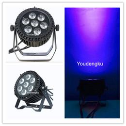 Wholesale Led Par Lights Cheap - 4 pieces cheap dj lights 7x18w Multi color slim par 6in1 rgbwa uv outdoor led par uv