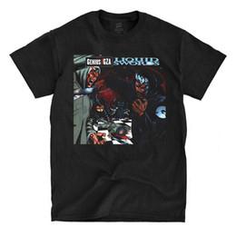 Vestiti liquidi online-GZA - Liquid Swords - Maglietta nera Maglietta manica Maglietta estiva Uomo T-shirt Abbigliamento Moda Uomo Girocollo Uomo Top Tee Taglie forti