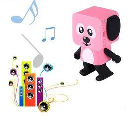 Wholesale mp3 player gift box - 2018 Mini Bluetooth Speaker Smart Dancing Dog Speakers New Multi Portable Bluetooth Speakers Loudspeaker Creative Gift DHL