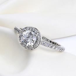 ANILLO lindo y romántico con caja original para Pandora Charms Jewelry CZ Diamond 925 Anillos de plata esterlina Regalo de boda de las mujeres anillo de dedo desde fabricantes