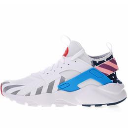 buy popular de8db f9d01 Parra Huarache courir ultra IV respirant chaussures de course pour hommes  femmes Blanc Noir Marron Huaraches 4 multi chaussures Athletic Sneakers  Taille ...