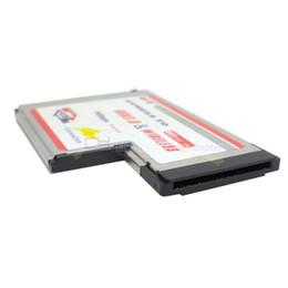 Express-karte drahtlos online-Laptop 54mm Typ II Express Karte zu Wireless N WIFI Antenne Ethernet Netzwerkkarte + USB 3.0 Buchse Adapter Erweiterungskarte