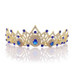 Nupcial Rhinestone lleno Corona de cristal Accesorios de boda caliente europeos y americanos Vestido Tiaras Joyería del pelo Envío de la gota H1137 desde fabricantes