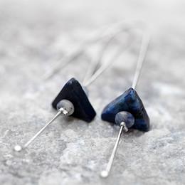 Brincos lapis lazuli jóias on-line-Criativo Lapis Lazuli Brincos Longos Brincos Mulheres Velhas Fazer Brincos de Alta-grade de Moda Feminina Personalidade Acessórios de Jóias