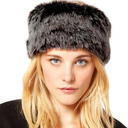 2019 orelhas do chapéu russo Anéis de Cabeça Da Pele Do Falso Quente Do inverno Chapéus Gorros Mulheres Orelha Quente Fofo Chapéu Russa Anel Elástico Círculo Faixa de Cabelo Caps de Esqui Headwear orelhas do chapéu russo barato