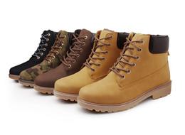 Wholesale plus size rubber boots - SZSGCN84-2018 New Plus size(36-46) Boots Casual Men women's Winter Boots Leather Boots Men Winter Shoes Fur Warm Shoes Lover shoes
