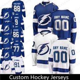 Tampa Bay Lightning Custom 2018 New 88 Andrei Vasilevskiy 63 Matthew Peca Jersey  18 Ondrej Palat 9 Tyler Johnson 14 Chris Kunitz Jerseys 96444624e