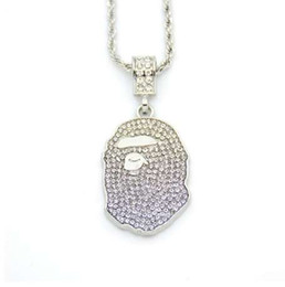2019 collier percy jackson Hip Hop Iced Out Quavo Choker Full Strass Ape Collier Pendentif Présent Bling