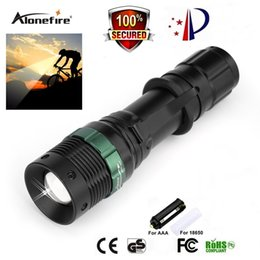 Wholesale 3x Cree Flashlight - AloneFire CREE Q5 LED Zoomable Led flashlight with portable Led flashlight for 3x AAA 1x 18650 battery