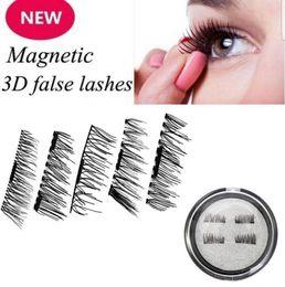 Wholesale Comfort Sets - Magnetic Eyelashes 3D Reusable Fake Comfort Lashes No Glue Natural Look Eye Beauty Makeup Eye Lashes 4pcs Set OOA3885
