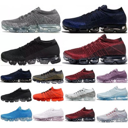 Wholesale outdoor hot springs - Hot VaporMax 2018 BE TRUE Men Shock Running Shoes For Real Quality Fashion Women Men Sneakers Sports Running Shoes SZ EU 36-45