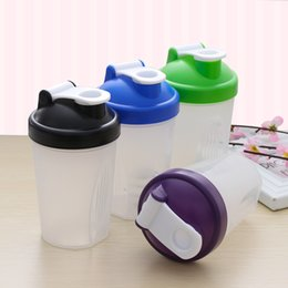 Wholesale Blue Mixers - Wholesale-1 PC 400 ml Useful Shake Gym Protein Shake Mixer Beverage My Sport Camping Shaker Bottle Water Bottles