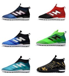 boot blacking factory Promo Codes - Cristiano Ronaldo ACE Tango 17+ Purecontrol TF Men's Soccer Shoes Black Neymar Football Shoes Factory Outlet Soccer Cleats Soccer Boots