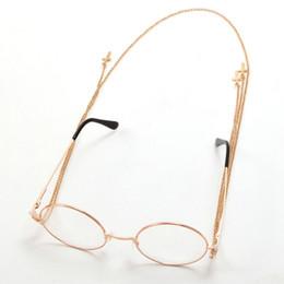Bicchieri vittoriani online-Occhiali Steampunk Lolita retrò con ciondolo a catena croce vittoriana
