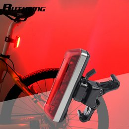 5c409722f3a RUTVEING New Bicycle Tail light USB Rechargeable Charging COB Lamp LED Bike  Safety Lights Cap Clamp Running Warning Rear Light