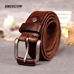 Shop Vintage Brown Leather Belt Mens UK | Vintage Brown