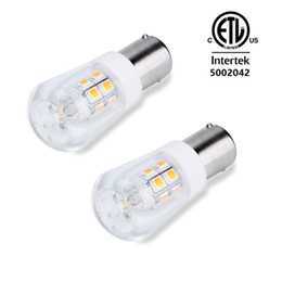 Wholesale Smd Led For Car - AC DC 12V BA15S Led light Bulb S8 Bayonet Base Non-Dimmable 2W Waterproof Lamp CRI80 For Boat, RV, Auto Car Soft Warm White