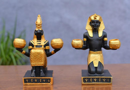 Wholesale Wall Match Holder - Pharaoh shape candle holder with 1pc free candles, decorative candle stick