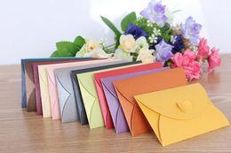 large envelope sizes NZ - Wholesale- 5p lot Large Size 11*17.5cm Heart clasp envelopes Retro Paper Envelopes Vintage Wedding Envelope Colorful Gift Envelopes