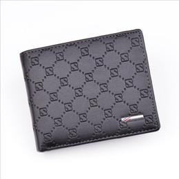 Wholesale Dress Black Dot Bow - 2018 new Wallet for Credit Cards Mens Leather portable leather leather wallet brand package discount promotional wallets