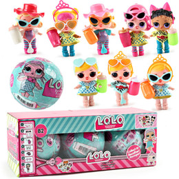 Wholesale Toy Rubber Eggs - Baby Girls Dolls Figures Toys LOL SURPRISE DOLL Lil Sisters Series Dress Up Toys Change Egg can Spray 3PCS A Set