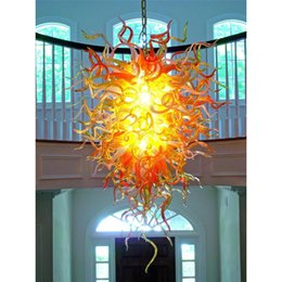 Beautiful Pendant Chandelier Light Fixture Dale Italy Chihuly Colorful  Glass Art Hanging Lamp 100% Handmade Crystal Light