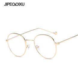 276350a67b6 JIPEMIXU Women Optical Glasses frame Blue Light Blocking Metal Eyeglasses  Frames Men Round Fashion Vintage Reading Spectacles