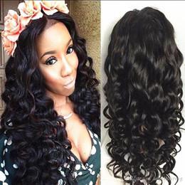 cheveux brun marron Promotion Femmes cheveux humains pleine dentelle perruque brésilien vierge cheveux avant de dentelle 150% densité avec bébé cheveux lâche bouclés perruque marron brun moyen brun couleur