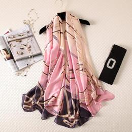 Deutschland Neuer Schal der Sommerfrauen Art- und Weisedame Silk Scarves Print weiche Schal-Pashmina Foulard Femme lange Größen-Bandana Freies Verschiffen supplier bandana scarf size Versorgung