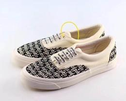 Sapatos visvim on-line-Medo De Deus x Calçados Casuais Das Mulheres Dos Homens Era 95 Vingança X Tempestade velha skool Canvas Vetements VisVim Skate Slip-On FOG esportes tênis