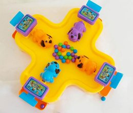 Wholesale interactive games children - 2018 Child Dog Pacman Toy Desktop Greedy Pearl Puzzle Eat Ball Bean 4 Interactive Games