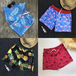 troncs de bain secs rapides Promotion Homme Plage Pantalon Bleu Rouge Été USA Drapeau Ananas Maillots De Bain Quick Dry Flamingo Impression Shorts Mode 25ys bb