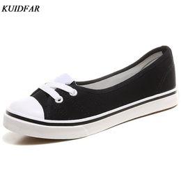 Wholesale White Pedals - KUIDFAR 2018 Spring light canvas shoes women shoes slip-on Korean tide students set foot pedal flat
