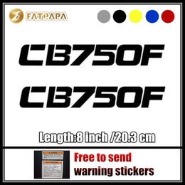 Wholesale Cb Red - motorcycle bike Fuel tank Wheels Fairing notebook Luggage helmet MOTO Sticker decals For Honda CB 750F v1 LOGO