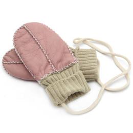 Wholesale Children Gloves Wool - 2018 latest children's leather gloves wool gloves suitable for children aged 1-3