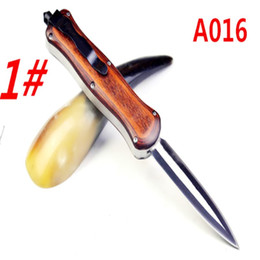 Wholesale wholesale knives free shipping - Hot Bencd A016 A017 A018 3 modes of hunting camping gift knife 6pcs free shipping