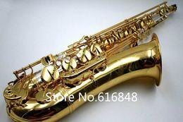 Saxofon de tubo online-Saxofón profesional de alta calidad YANAGISAWA 9930 Bb Tenor Latón Tubo de saxofón Laca dorada Instrumento de la marca con estuche, boquilla