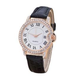leather bracelet women wrist watches Australia - diamond bracelet watches Women luxury dress Fashion Leather Analog Simple Clock Dial Quartz Wrist Watch relogio gift