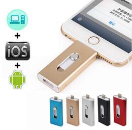 2019 128gb unidades flash al por mayor 16GB 3 en 1 OTG memoria USB para iPhone X / 8/7/7 Plus / 6 / 6s / 5 / SE ipad Android smart USB flash drive