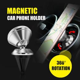 Универсальный алюминиевый сплав Air Vent Магнитный держатель для мобильного телефона для iPhone и Android-смартфонов Автомобильный держатель для телефона cheap universal cell phone car mount от Поставщики универсальное автомобильное крепление для мобильных телефонов