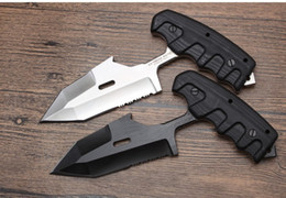 cuchillos plegables borde dentado Rebajas Cuchillo multiusos de alta calidad italiana Extrema Ratio S.E.R.E 1, EDC Dureza fuerte G10 Mango D2 Acero K Funda