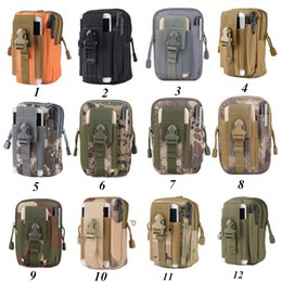 Wholesale leather hip bag belt - Universal Outdoor Tactical Holster Military Molle Hip Waist Belt Bag Wallet Pouch Purse Phone Cases for iPhone X Ship In 1 Day