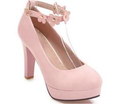 Бесплатно отправить горячий водонепроницаемый стол грубый каблук на высоком каблуке одной обуви большой размер женская обувь 40-- 45 маленький код 33 от