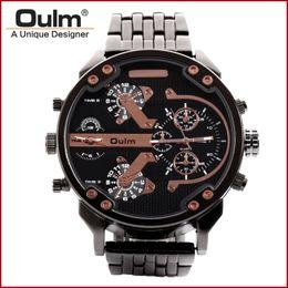 Relógio de discagem oulm on-line-Relógio de Pulso China Fabricante Oulm Marca de Quartzo Relógios Homens Relógio Homens Mostrador Grande Mostrador Analógico Novo com tags HT3548