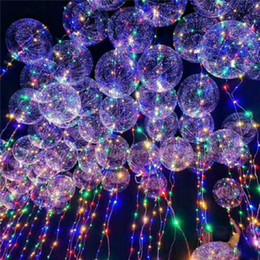Commercio all'ingrosso 2018 New Light Up Toys LED String Lights Flasher Illuminazione Balloon Wave Ball 18 pollici Elio Palloncini Natale Halloween Decoratio a da giocattolo anello giroscopio all'ingrosso fornitori