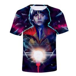 Персональные футболки онлайн-Хип-хоп странные вещи одиннадцать 3d с коротким рукавом футболки Мужчины Женщины забавный персонаж тис Harajuku летние футболки