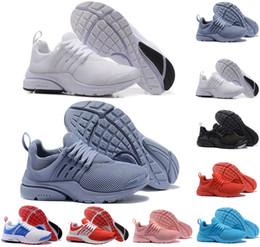 low priced 795fa 43ec7 nike air presto Nouvelles chaussures de course pour hommes presto run  Triple noir blanc jaune jaune Rouge bleu clair Oreo pas cher Femmes Baskets  sport ...