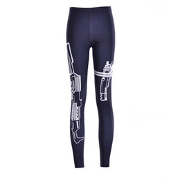 Wholesale Tight Fitting Girls - Sporting Leggings gun Casual Print pants compression Pencil Fit jeggings Print with Workout girls leggings Tights wear