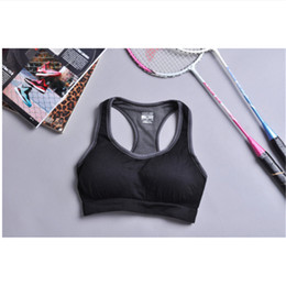 e98cf8135 cute girls bras Canada - Cute sports bras Full Cup Yoga Sports bra running  female wearing