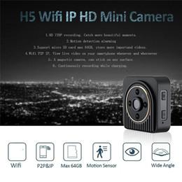 Wholesale Wide Angle Hd Camera - Mini IP Camera Wide Angle HD 720P Mini Wifi P2P DV Motion Detection Magnetic DVR Wireless Surveillance Wearable Body Camera